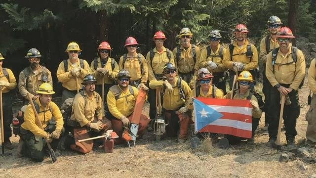 Firefighters from Puerto Rico helping to battle Miles Fire in S. Oregon