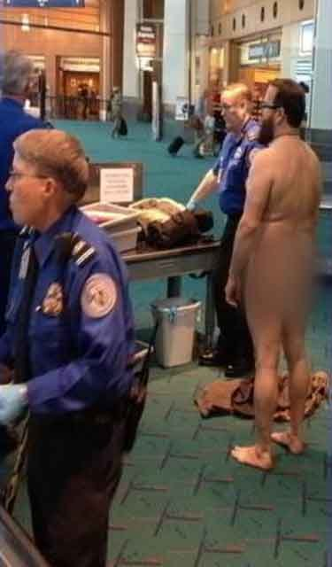 Police: Naked man protests TSA at Portland Airport 17520055 BG1