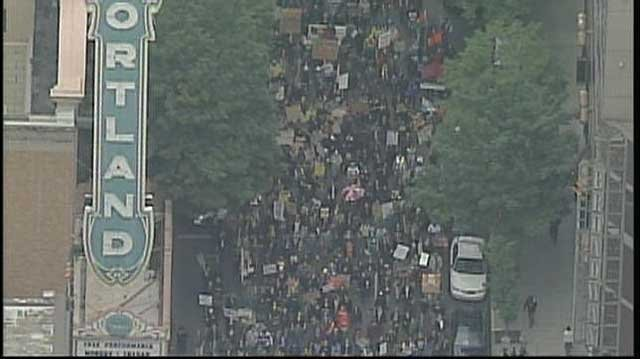 This was the scene last fall when Occupy Portland protesters took to the streets.