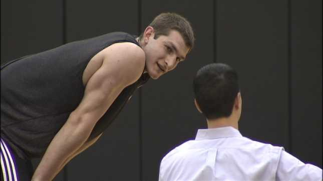 Draft prospect Tyler Zeller worked out for the Blazers earlier this week.