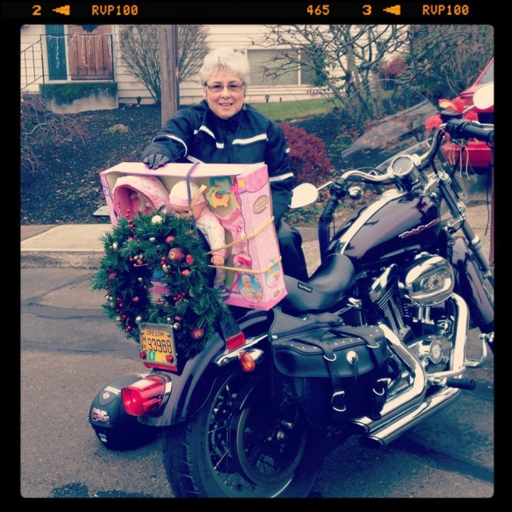 Perrone with a Toys for Tots donation