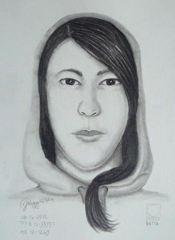 An artist created this sketch of the woman whose body was found in Washington Park.