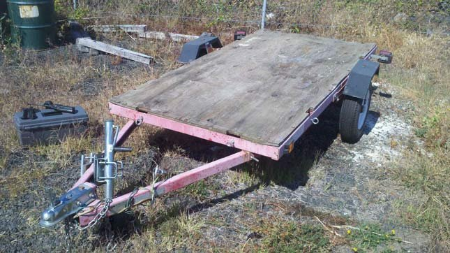 Trailer found near scene