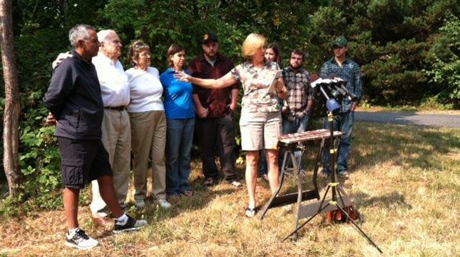 Fritz Hayes' family addresses the media Monday.