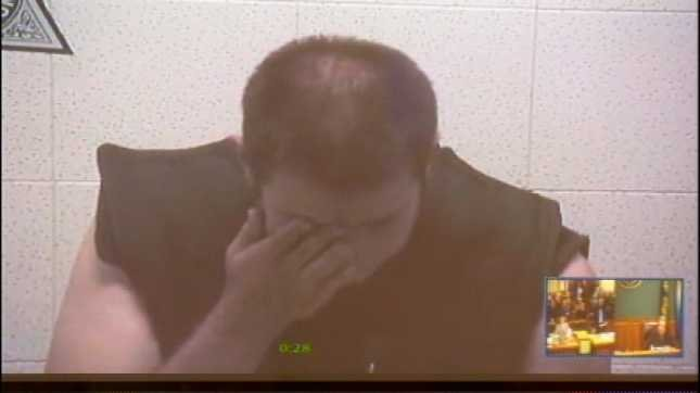 Jonathan Holt in his first court appearance after being arrested on aggravated murder charges.