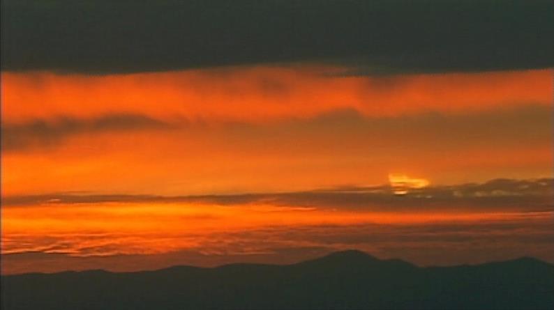 November sunrise as seen from Air 12