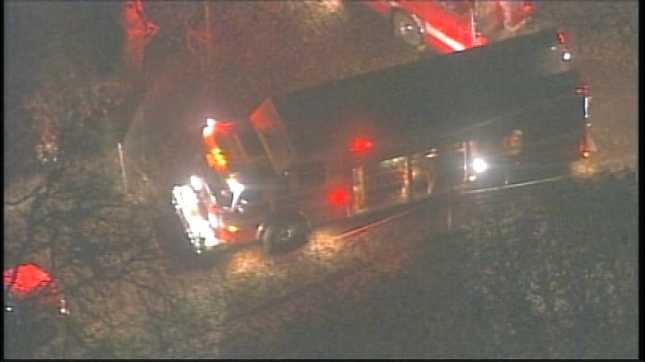 Rescue crews at the scene