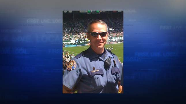 Paul Meyer at a 2011 Portland Timbers game, courtesy Portland Police Bureau