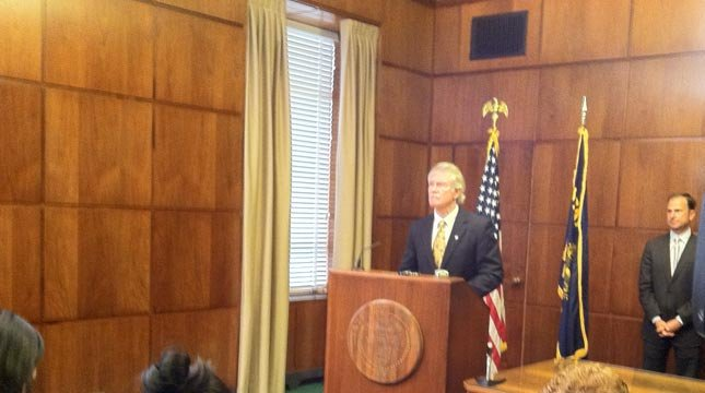 Gov. Kitzhaber at Monday morning's news conference