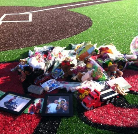 Memorial at Clackamas High School baseball field