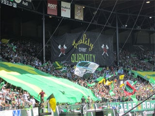 JELD-WEN Field is already home to an impressive atmosphere for Portland Timbers games. // Photo: Wayne Garcia, KPTV