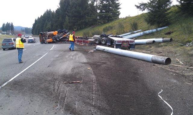 I-5 offramp crash // Photo: Oregon State Police