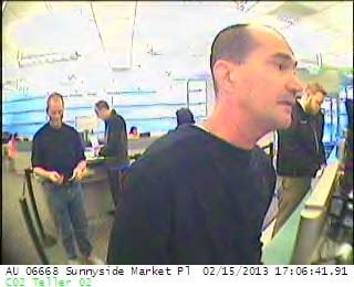 Bank robbery surveillance from Clackamas County Sheriff's Office