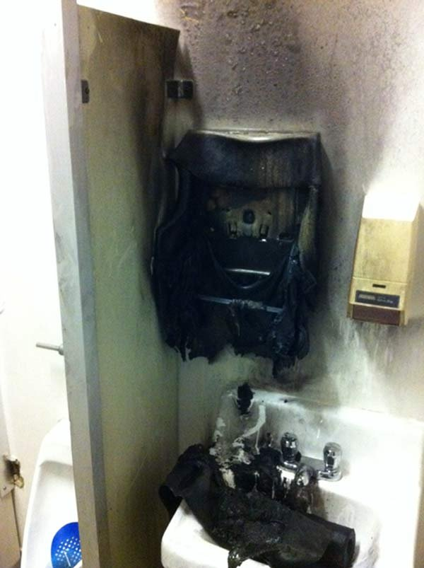 Linwood Elementary School bathroom fire