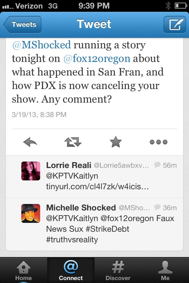 Shocked issued this response directly to KPTV
