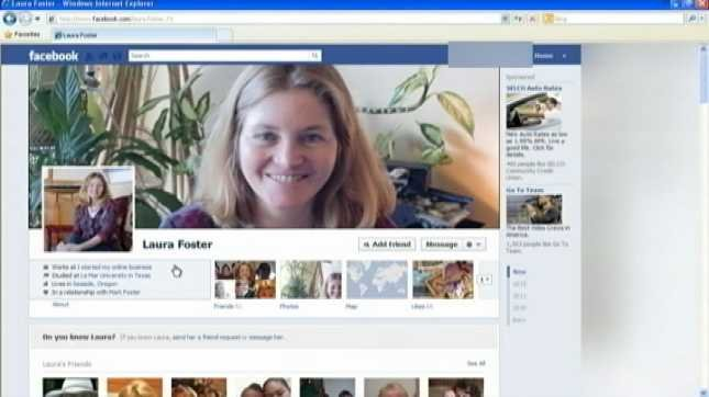 Laura Foster's Facebook page, May 2012