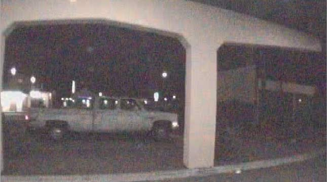 Truck at restaurant prior to robbery