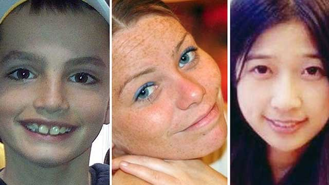 This combination of photos shows, from left, Martin Richard, 8, Krystle Campbell, 29, and Lingzi Lu, a Boston University graduate student. They were killed in the bombings. (AP Photo/File)