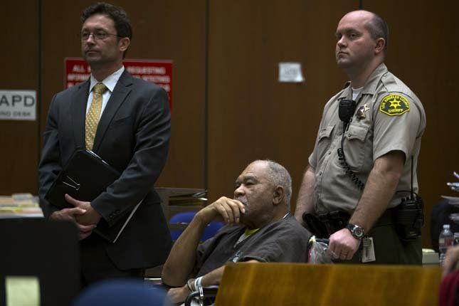 Samuel Little appears in a courtroom on March 4 for his arraignment in Los Angeles. (AP Photo/Jae C. Hong)