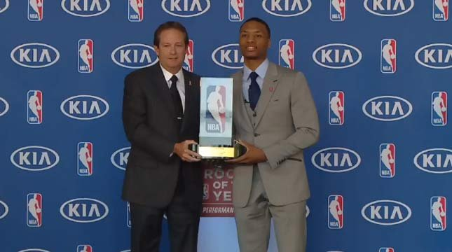 Damian Lillard named Rookie of the Year