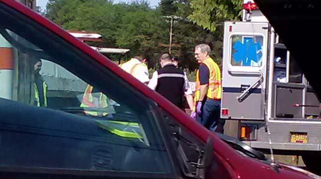 Viewer photo from Tuesday's crash scene