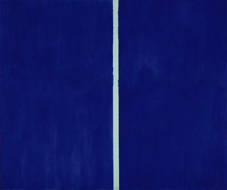 "This image released by Sothebys shows the 1953 painting ""Onement VI"" by abstract expressionist artist Barnett Newman."