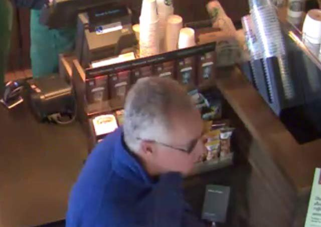 Person of interest in case of hidden camera in restroom at Starbucks. (Photo: Sherwood Police)