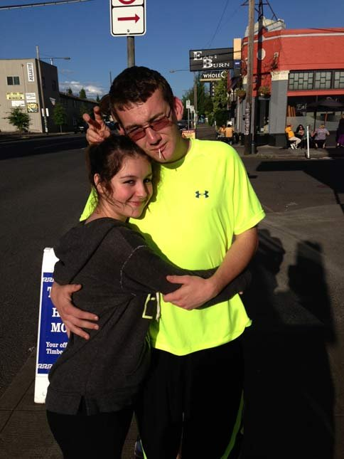 Justin Carey and girlfriend Lexi Davisson (photo provided by family)