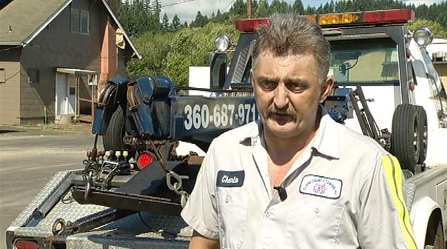 Carey's family says tow truck driver Charles Barrett saved Justin's life.