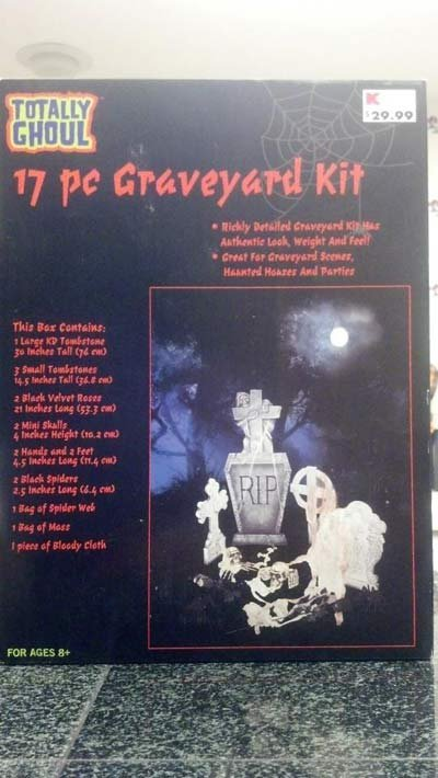 "Julie Keith said she bought the ""graveyard kit"" from a Vancouver K-Mart that has since closed down."
