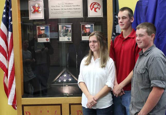Project organizers, from left, Samantha Willson, Casey McNicholas and Brett Udy.