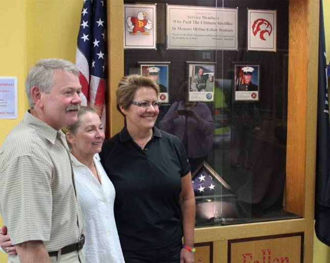 Parents Peter and Debbie Bruns and Beth Johnson.