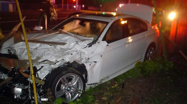 The crash scene at Avery Street and Boones Ferry Road. // Photo: Tualatin Police Department