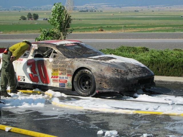 Two Nascar Cars Damaged In I Fire Kptv Fox