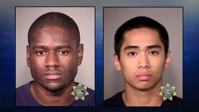 Marcus Forest-Cooper and Mitchell Asa. Booking photos from Portland Police Bureau.
