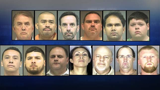 Booking photos from Thursday's prostitution stings