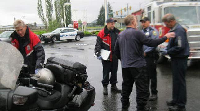 Man hit by lightning on motorcycle. Photo: LewisCountySirens.com