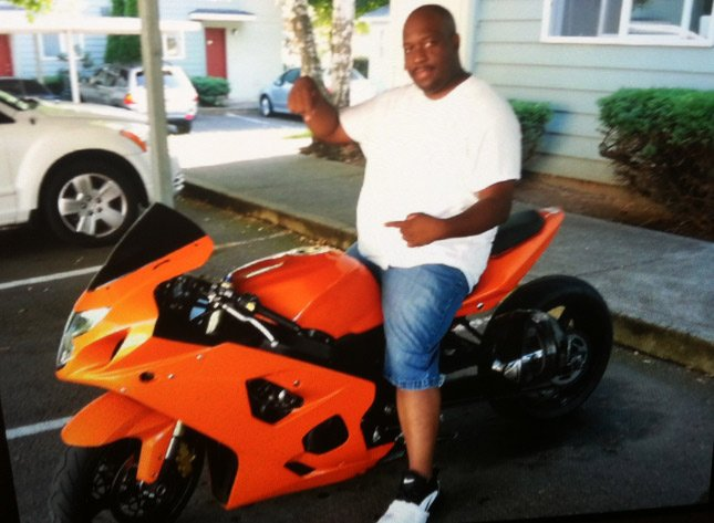 Delrick Hardcastle said his motorcycle was stolen while he was being treated for a stab wound in the hospital.