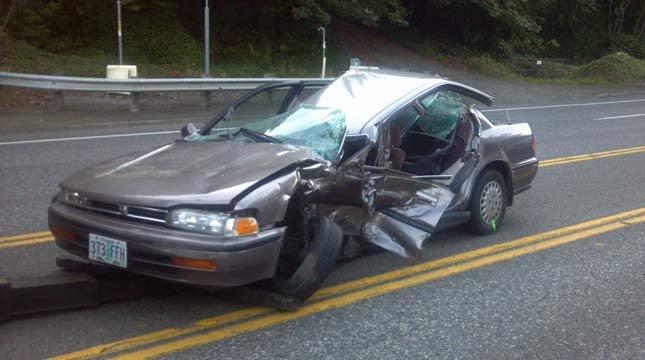 Highway 30 crash scene