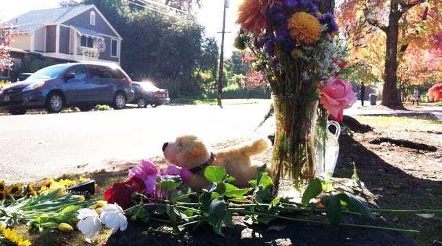 Memorial at crash scene