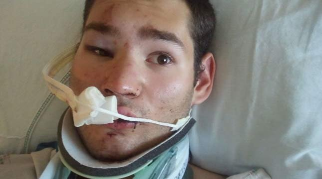 Kenton Lett in the hospital