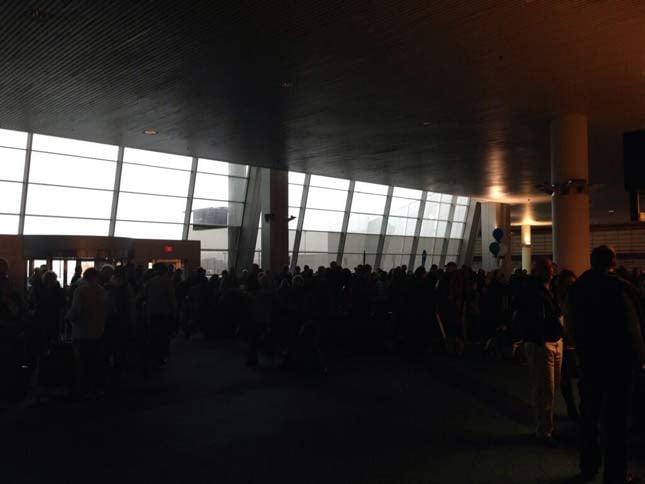 An airport terminal at Portland International Airport. // Photo courtesy: @RayTerrill