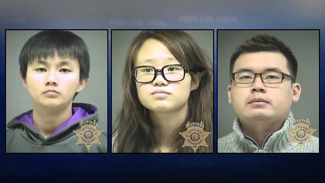 Khailee Soong, Mengzhao Tu, Xiaoling Cao. Washington County Jail booking photos