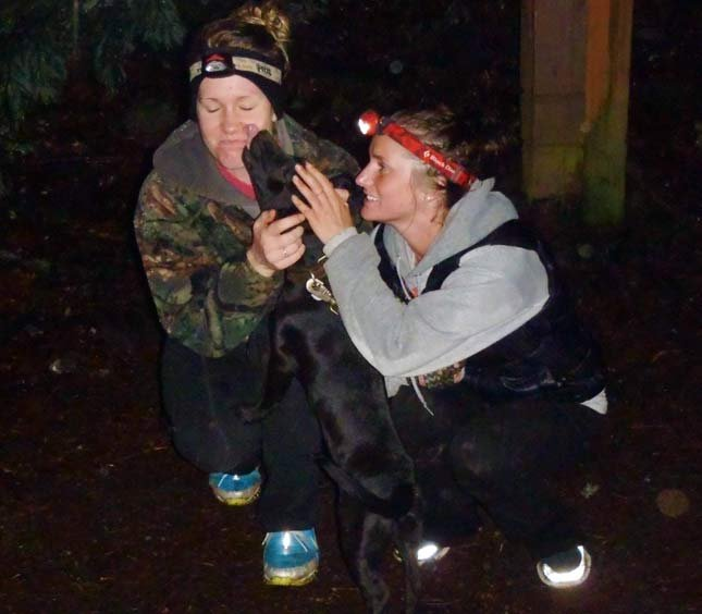 Rocky hands out kisses after his rescue. // Photo: Portland Mountain Rescue