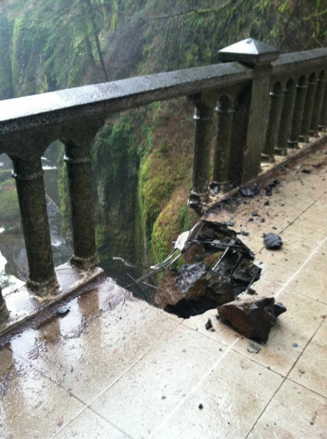 Photo of Benson Bridge which hikers didn't realize was closed