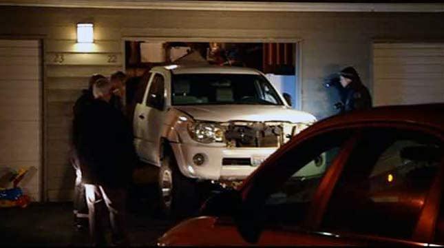 Suspect truck located at apartment
