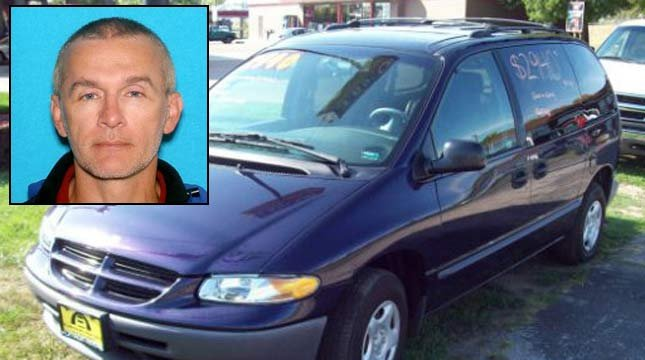 Kelly Swoboda, DMV photo and image of van similar to the one he drove