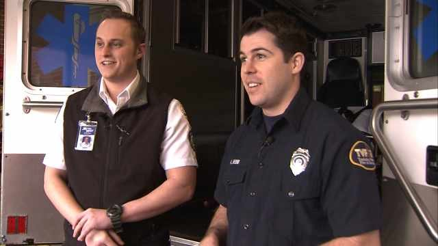 Metro West Ambulance paramedic Nick Glass and TVF&R firefighter Kevin Bebb