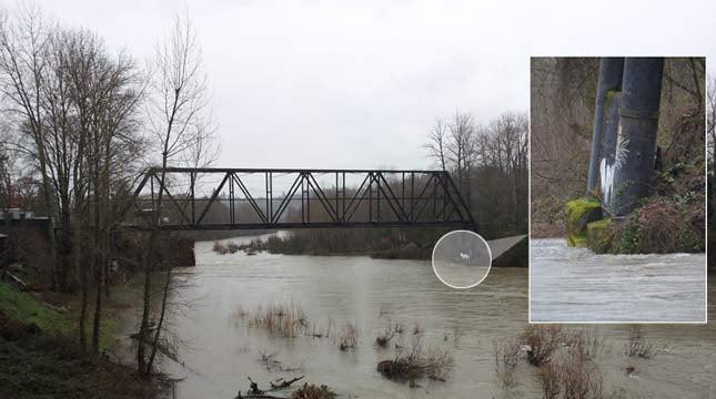 Old Trolley Bridge over the Clackamas River