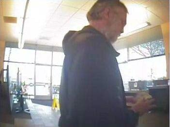 Bank robbery surveillance image from Eugene